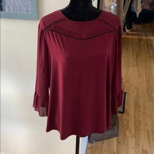 Dressbarn maroon top